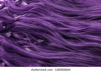 Single piece clip in purple color wavy synthetic hair extensions