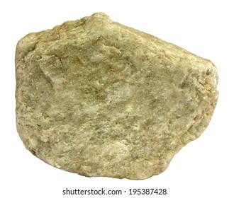 Single piece of greenish tinted metamorphic quartzite
