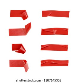 Single piece of insulating tape isolated over the white background, set of eight different foreshortenings
