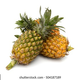 Single pineapple isolated on a white background.