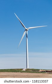 Single powerful wind turbine producing environmental friendly electricity