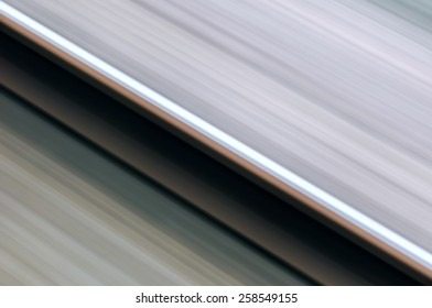 Single rail in motion speed concept railway transportation diagonal
