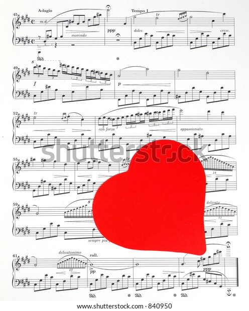 Single Red Valentine Heart Over Public Stock Photo (Edit Now
