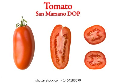 Single San Marzano Tomato raw and sliced