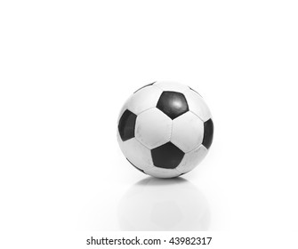 Single soccer of football isolated on white background.