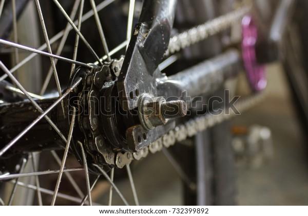 Single Speed Mountain Bike Rear Hub Stock Photo (Edit Now