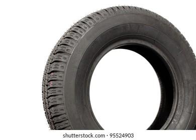 Single tire isolated on white background