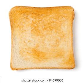 single toast against white background