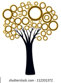 A single tree on background