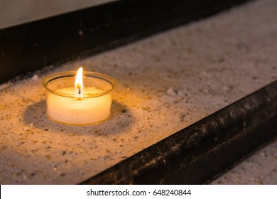 Single Tribute Candle Funeral Remembering Fire Shelf Donation