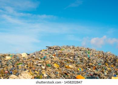 Single use plastic waste dump