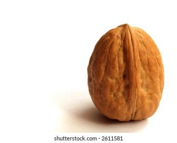 Single walnut - macro shot