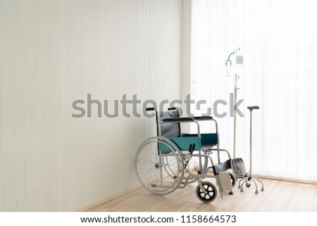 Image of: Electric Wheelchair Single Wheelchair With Medical Equipment For Old People In The Hospital Madeinchinacom Single Wheelchair Medical Equipment Old People Stock Photo edit Now