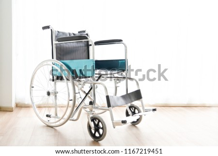 Image of: Electric Wheelchair Single Wheelchair For Old People In The Hospital Dreamstime Single Wheelchair Old People Hospital Stock Photo edit Now