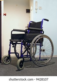 Single wheelchair for patient in the hospital