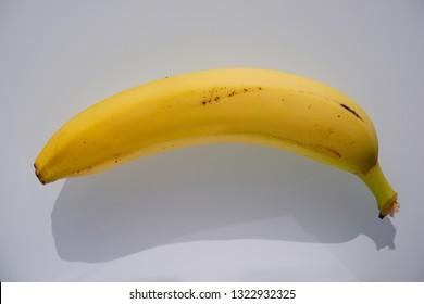 single yellow Banana