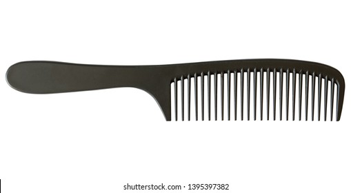 Single-row comb. Comb isolate. Plastic single-row comb. Comb horizontal layout.