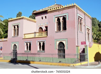 singular building in Almuñecar, Granada, Andalusia, Spain,