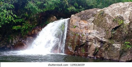 """Sinharaja,Deniyaya/Sri Lanka-24th September 2018:""""Kekuna WaterFall""""One of the beautifull Waterfall in Sinharaja world Heritage"""