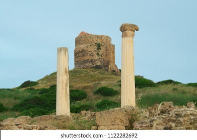 Sinis peninsula, Sardinia, Italy - Archaeological area of Tharros