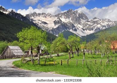 Sinjajevina mountain in northern Montenegro between town of Kolasin and village of Njegovuda.