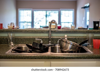 Sink of Dirty Dishes