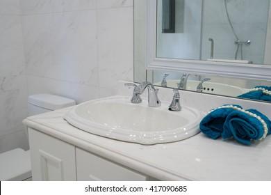 sink in a modern bathroom