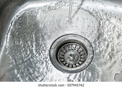 Sink with water