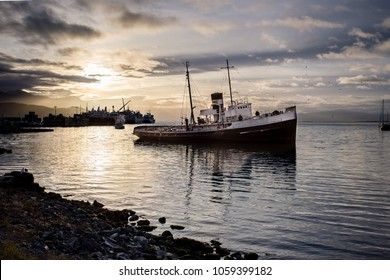The Sinking St. Christopher Tug Boat of Ushuaia, Argentina