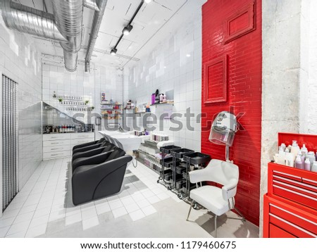 Sinks Retro Hair Dryer Industrial Beauty Stock Photo Edit Now