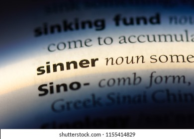 sinner word in a dictionary. sinner concept.