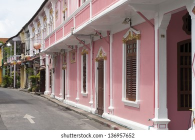 Sino Portuguese Architecture in Phuket Town (City), Thailand-6