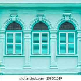 Sino-Portuguese Architecture of many the buildings in Phuket town. These old buildings have been constructed more than hundred years and this architectural style is European mixed with Chinese modern.
