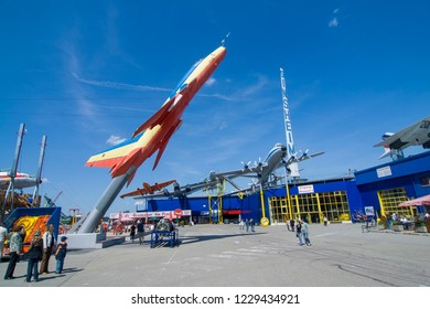 SINSHEIM, GERMANY - MAY 5, 2008:  aircraft Sukhoi Su-22M4 in the museum in Sinsheim , Germany.