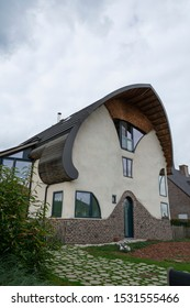 Sint Gillis waas, Belgium, September 30, 2019, ecological house, also known as green house very energy efficient