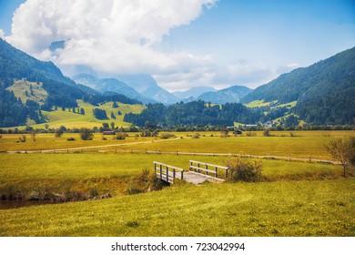 Sint Johann village in Tyrol area, Austria