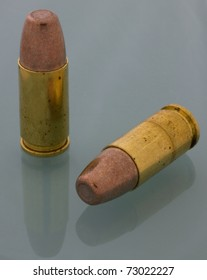 sintered bullets on a pair of 9 mm Luger cartridges