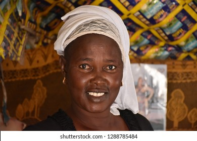 Sinthiou Daiza, Senegal - November, 20, 2018: potrait of local people in the remote village