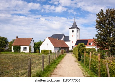 Sint-Pietersstoelkerk church in Moregem near Oudenaarde in Flemish Ardennes, Flanders, Belgium.