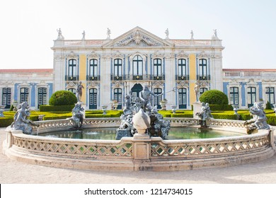SINTRA, PORTUGAL - 08/03/2018: The National Palace of Queluz in Sintra/Lisboa, Portugal