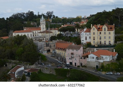 SINTRA, PORTUGAL - APRIL 30, 2013: A view at the city Sintra, Portugal on April 30, 2013.