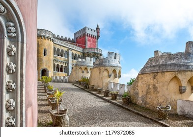 Sintra, Portugal - March 26, 2009: The Palacio Da Pena