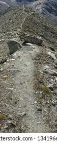 Sinuous Alpine trail in Switzerland