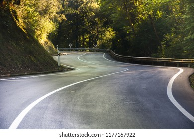 Sinuous countryside road