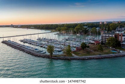 Siofok port on lake Balaton. Wery popular touris destination an this is the capital city of lake balaton.