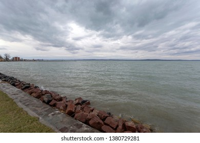 Siofok promenade at Lake Balaton.