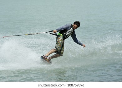 SIOFOK-SOSTO, HUNGARY -Â?Â? MAY 19: Unidentified wakeboarder participates at Surf Festival on May 19, 2007 in Siofok-Sosto, Hungary