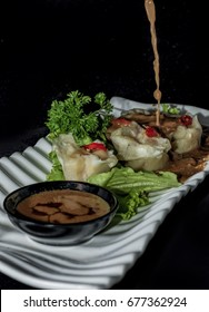 Siomay with peanut sauce
