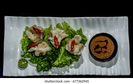 Siomay with salad