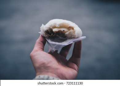 Siopao, a Filipino version of the Chinese or Cantonese steamed bun.  Personal perspective. Toned picture.